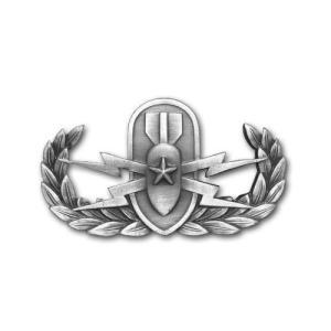 アメリカ陸軍 技能章 - 爆発物処理 シニア章 - いぶし銀仕上 サービスドレス胸用 米軍 ミリタリーバッジ|card-museum