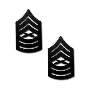 アメリカ海兵隊 下士官 階級章 - 曹長(専門職) 戦闘服用 米軍 ミリタリーバッジ 2個セット|card-museum