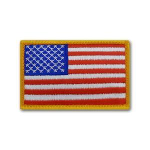 アメリカ国旗 - 左肩用(ゴールドエッジ)【ベルクロタイプ】|card-museum