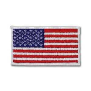 アメリカ国旗 - 左肩用(ホワイトエッジ)【縫付タイプ】|card-museum