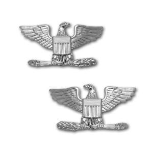 アメリカ軍 士官 階級章 - 大佐 O-6 サービスドレス肩用 米軍 ミリタリーバッジ 2個セット|card-museum