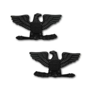 アメリカ軍 士官 階級章 - 大佐 O-6 戦闘服肩用 米軍 ミリタリーバッジ 2個セット|card-museum