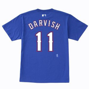 送料無料!ダルビッシュ有 ネーム&ナンバーTシャツ (レンジャーズ/ブルー/#11) Yu Darvish 4/6入荷!|cardfanatic
