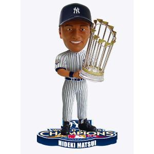 松井秀喜 ニューヨーク ヤンキース 2009ワールドシリーズチャンピオンズボブル(Forever 2009 World Series Champions Bobble)|cardfanatic