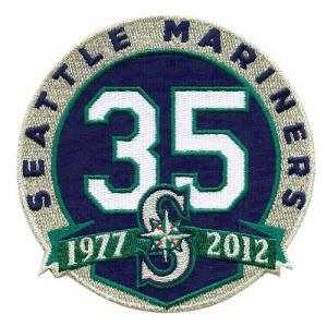 シアトル・マリナーズ 球団設立35周年記念ロゴパッチ / Seattle Mariners|cardfanatic