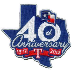 テキサス・レンジャーズ テキサス移転40周年記念ロゴパッチ / Texas Rangers|cardfanatic