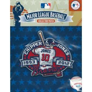 MLB 2012 チッパー・ジョーンズ 引退記念ロゴパッチ / 2012 Chipper Jones Retired Logo Patch|cardfanatic