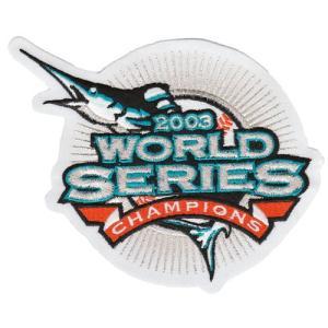 【フロリダ マーリンズ】 MLB 2003ワールドシリーズ優勝記念 ロゴパッチ (メジャーリーグ) (野球) (Florida Marlins) (Logo Patch)|cardfanatic