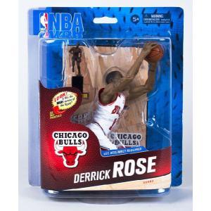 デリック・ローズ マクファーレン NBA フィギュア シリーズ24 (ブルズ ホワイト MVPトロフィー付き コレクターズレベル) 1250体限定! Derrick Rose