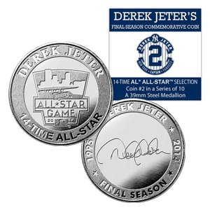 (セール)The Highland Mint (ハイランドミント) デレク・ジーター ファイナルシーズンコイン #2 Derek Jeter Final Season 14 time All Star Coin #2|cardfanatic