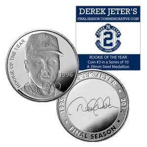 (セール)The Highland Mint (ハイランドミント) デレク・ジーター ファイナルシーズンコイン #3 Derek Jeter Final Season Rookie of the Year Coin #3|cardfanatic