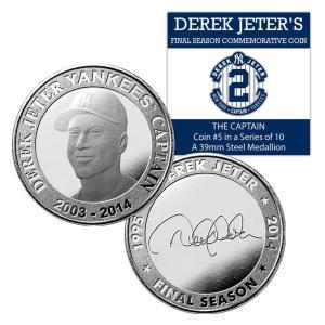 (セール)The Highland Mint (ハイランドミント) デレク・ジーター ファイナルシーズンコイン #5 Derek Jeter Final Season The Captain Coin #5|cardfanatic