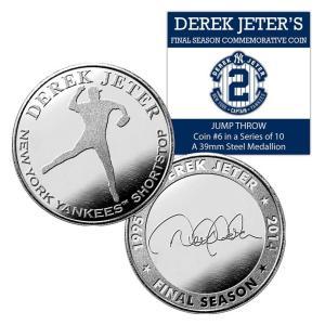 (セール)The Highland Mint (ハイランドミント) デレク・ジーター ファイナルシーズンコイン #6 Derek Jeter Final Season Jump Throw Coin #6|cardfanatic