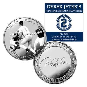 (セール)The Highland Mint (ハイランドミント) デレク・ジーター ファイナルシーズンコイン #8 Derek Jeter Final Season Fan Vote Coin #8|cardfanatic
