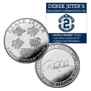 (セール)The Highland Mint (ハイランドミント) デレク・ジーター ファイナルシーズンコイン #9 Derek Jeter Final Season 5 World Series Titles Coin #9|cardfanatic