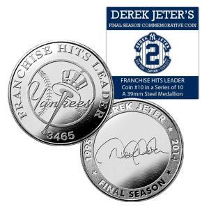 (セール)The Highland Mint (ハイランドミント) デレク・ジーター ファイナルシーズンコイン #10 Jeter Final Season Yankees All Time Hit Leader Coin #10|cardfanatic