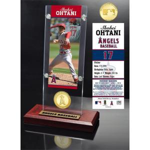 (予約)The Highland Mint (ハイランドミント) 大谷翔平 ロサンゼルス・エンゼルス MLBピッチングデビューブロンズコイン入りアクリルデスクトップ