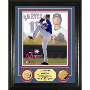 The Highland Mint (ハイランドミント) ダルビッシュ有 MLB 2012 スプリング・トレーニング フォトプラーク Yu Darvish Spring Training Gold Coin Photo Mint|cardfanatic