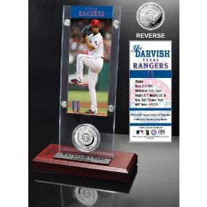 The Highland Mint (ハイランドミント) ダルビッシュ有 MLB レンジャーズ アクリルデスクトップ Yu Darvish Minted Coin Acrylic Desktop|cardfanatic