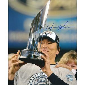 松井秀喜 MLB オーセンティック 直筆サインフォト / Hideki Matsui 2009 World Series Trophy 8/1入荷!|cardfanatic