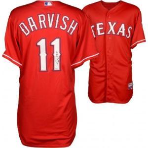 (セール)ダルビッシュ有 MLB 直筆サイン入りレプリカジャージ (レンジャーズ/レッド) / Yu Darvish|cardfanatic