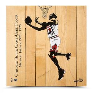 マイケル・ジョーダン 試合実使用フロア Michael Jordan Chicago Bulls Game-Used Floor Display|cardfanatic