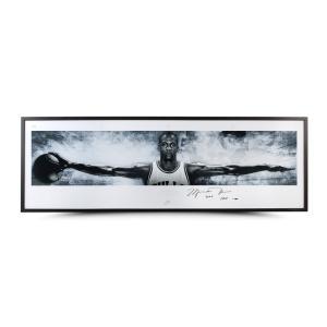 マイケル・ジョーダン 直筆サイン入りポスター 額入り MICHAEL JORDAN AUTOGRAPHED & INSCRIBED