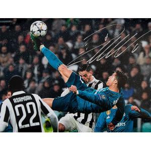 クリスティアーノ・ロナウド レアル・マドリード アイコニック UEFA ゴール vs ユベントス 直筆サインフォト / Cristiano Ronaldo