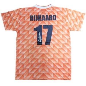 フランク・ライカールト 直筆サイン入りユニフォーム EURO 1988 オランダ代表 ホーム バックサイン(Frank Rijkaard Signed Netherlands 1988 Shirt)|cardfanatic