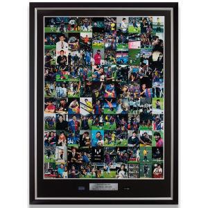 リオネル・メッシ オフィシャルトレーディングカード 特製フレーム入り直筆サインポスター (Lionel Messi Signed Poster: Official Messi Card Collection)|cardfanatic