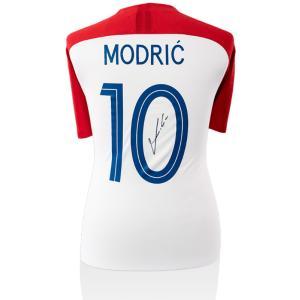 (Luka Modric Signed Croatia 2017-18 Home Shirt Wit...