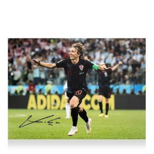 (Luka Modric Signed Croatia Photo: 2018 FIFA World...