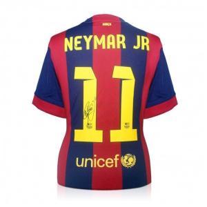 ネイマール 直筆サイン入りユニフォーム 2014-15 FCバルセロナ ホーム (Signed Barcelona 2014-15 Football Shirt) / Neymar Jr.|cardfanatic