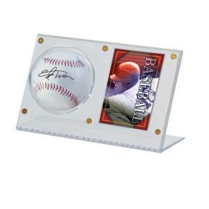 (ウルトラプロ UltraPro 収集用品) アクリル・ベースボール&カード・ホルダー (#43013)