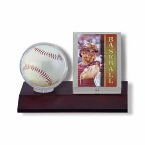 (ウルトラプロ UltraPro 収集用品) ダークウッド ベースボール&カードホルダー (#81674)