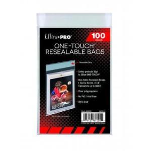 (ウルトラプロ UltraPro 収集用品) ワンタッチマグネットカードホルダー用バッグ シール付クリアパック 100枚入り / One-Touch Resealable Bags (#84005)