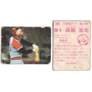 1982年カルビー発売のカード『プロ野球チップス』に入っているおまけカード<BR>森脇浩...