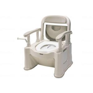 パナソニックエイジフリーポータブルトイレ座楽背もたれ型SP 1台|careshop-lincle