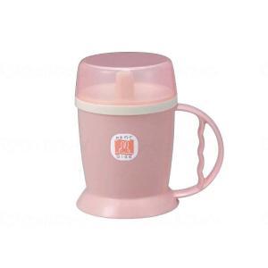 台和吸い口付きマグカップ 1個 ピンク|careshop-lincle