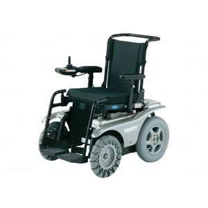 日進医療器4WD電動車いす Patrafour(パトラフォー) シルバーメタリック|careshop-lincle