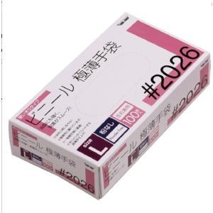 川西工業 ビニール極薄手袋Lサイズ(パウダーフリー)|careshop-lincle
