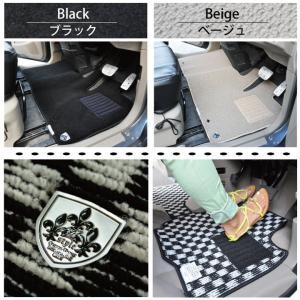 フロアマット ゼスト ゼストスパーク 専用 Z-style チェック柄プレイドシリーズ カー・マット|carestar|05