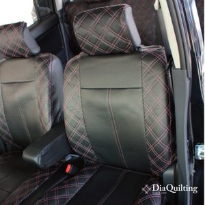 フロント席シートカバー マツダ ビアンテ 前席 [1列分] シートカバー ピンク ダイヤ キルティング Z-style ※オーダー生産(約45日後)代引不可|carestar|07