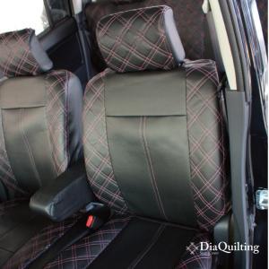 フロント席シートカバー トヨタ ハイエース 前席 [1列分] シートカバー ピンク ダイヤ キルティング Z-style ※オーダー生産(約45日後)代引不可|carestar|07