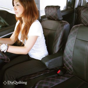フロント席シートカバー 高品質 ダイハツ トール 前席 [1列分] シートカバー ピンク ダイヤ キルティング Z-style ※オーダー生産(約45日後)代引不可|carestar|03