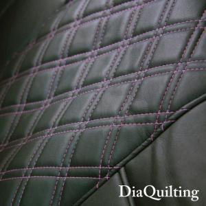 フロント席シートカバー 高品質 ダイハツ トール 前席 [1列分] シートカバー ピンク ダイヤ キルティング Z-style ※オーダー生産(約45日後)代引不可|carestar|05