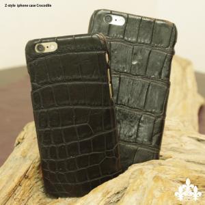 iPhone6sPlus iphone6Plus カバー クロコダイル天然 ワニ 本革 スマホ ケース carestar