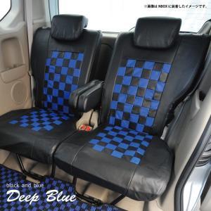 トヨタ ピクシスメガ シートカバー ディープブルー チェック 黒&ブルー Z-style ※オーダー生産(約45日後)代引不可 carestar 15