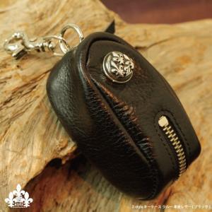 革職人 ハンドメイド 高級本革 スマートキー キーケース キーホルダー ラルー ブラック メンズ プレゼント z-style|carestar