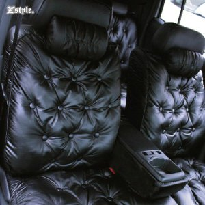 トヨタ bB グラマラス シートカバー 車種専用レザー ブラック シート カバー z-style|carestar|02